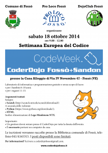 CoderDojo del 18 ottobre 2014