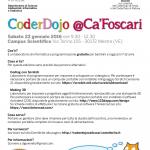 CoderDojo Ca Foscari 23 gennaio  2016